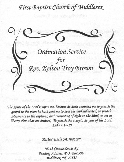 Pastor Ordination Service Sample submited images.